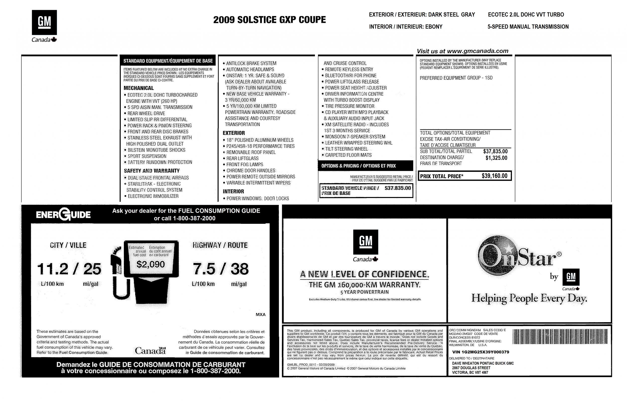 Original Window Sticker examples? - Page 2 - Pontiac