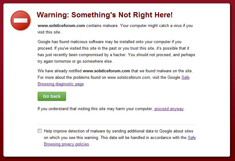 "Site registered as ""Unsafe"" by google-bad-forum.jpg"