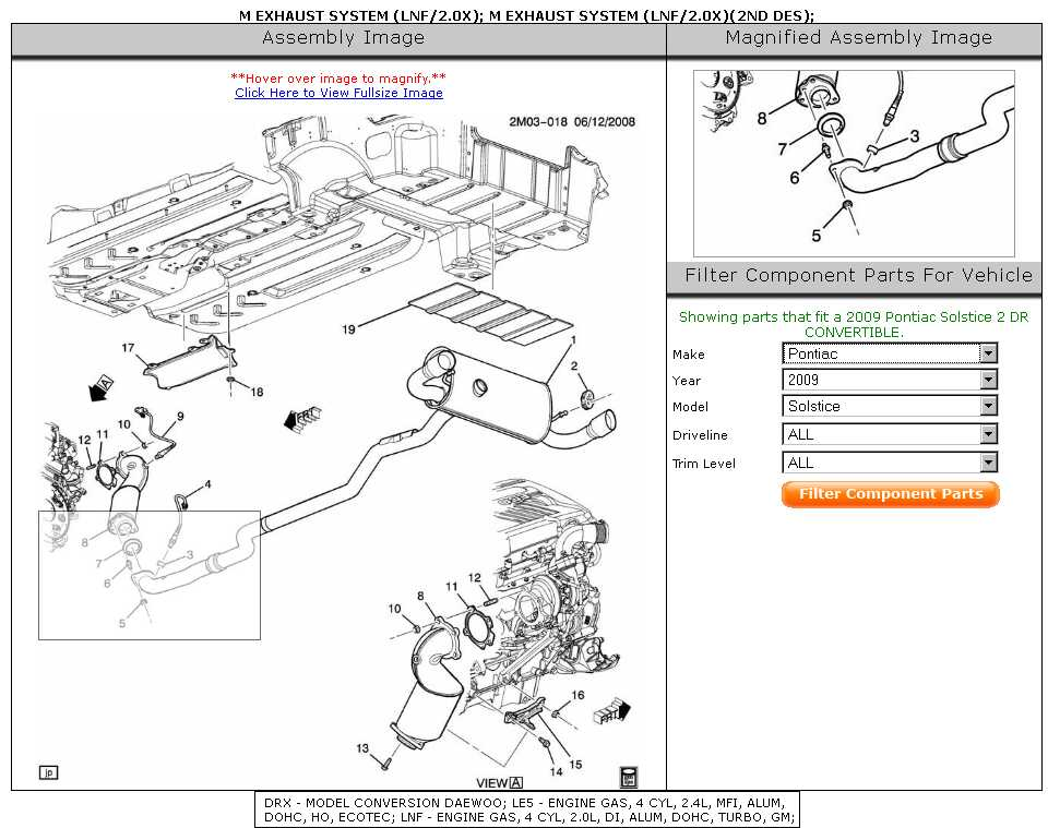 Diagram Of Gxp Exhaust Mating To Cat