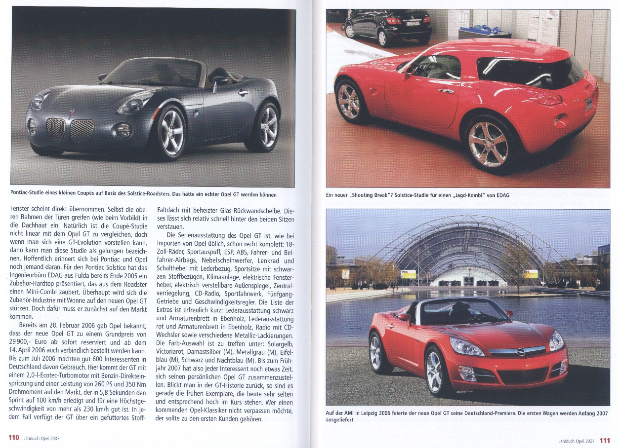 The Opel Gt Sky Solstice Lutz Connection Page 2 Pontiac Fuse Box Rainer Manthey Article